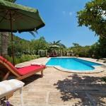 Pool area at Finca Can Colonya villa Pollensa